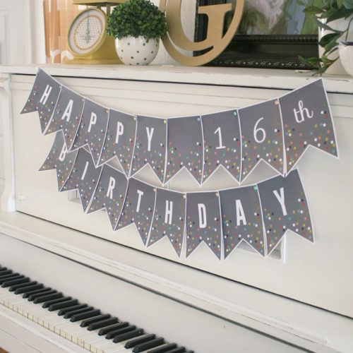 Printable Confetti Banner Letters