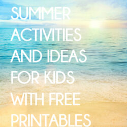 summer activities with printables