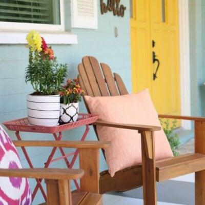 simple summer porch decor