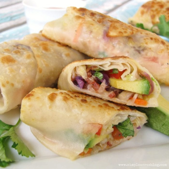 Avocado Egg Rolls recipe via Simple Acres Blog