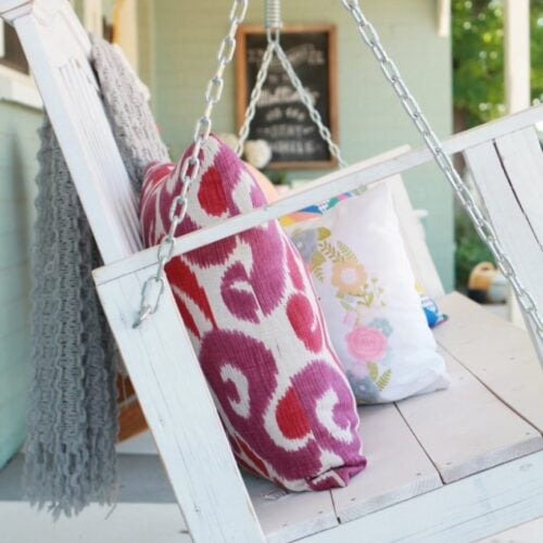 tips to hang a porch swing