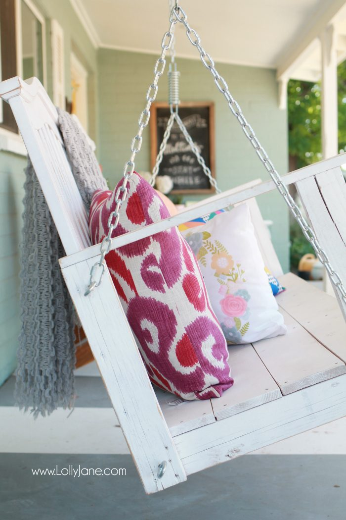 How to hang a porch swing the safe way! DIY fail, porch swing hanging mishap! Sometimes it's okay to hire out! Tips to safely hang a porch swing.