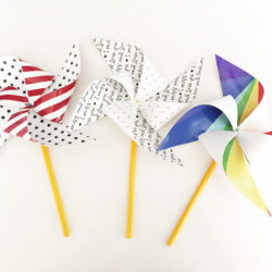 DIY Printable Patriotic Pinwheels