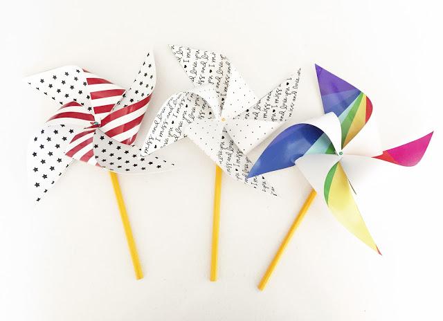 DIY Printable Patriotic Pinwheels