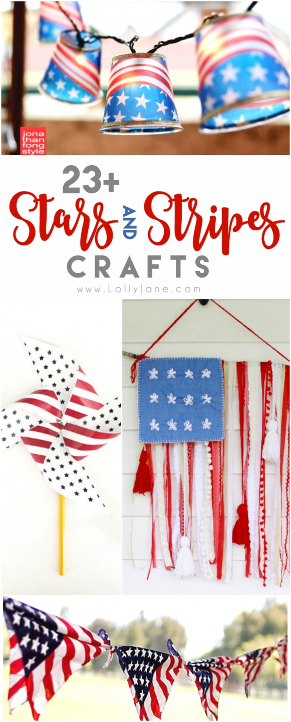23+ stars and stripes crafts. Love these patriotic craft ideas! Cute 4th of July crafts!!