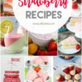 50+ strawberry dessert recipes! Strawberry drinks, strawberry cakes, strawberry cookies, strawberry jello, the list goes on! Lots of yummy summer recipe ideas! Love these fresh strawberry recipe ideas!!