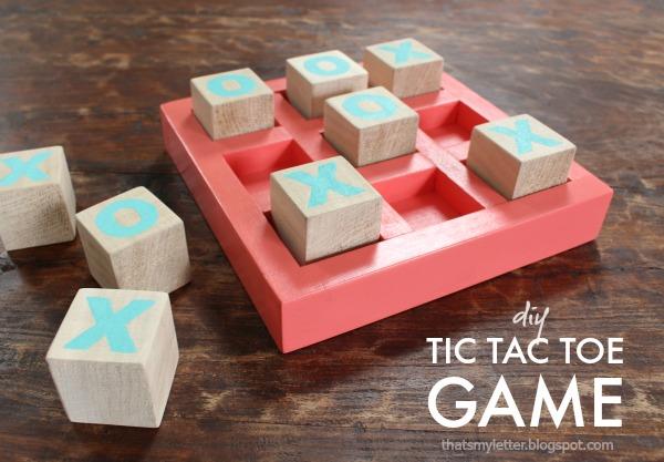 DIY wood tic tac toe game!