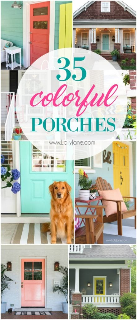 35 colorful porch ideas! Love these colorful porches! Lots of great DIY porch decor ideas! Colorful porch ideas to make outdoor living comfortable!