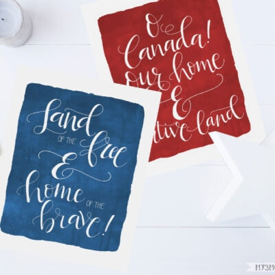 Hand Lettered Patriotic Printables