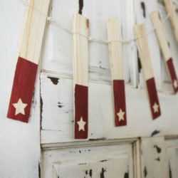 diy wood shim star banner