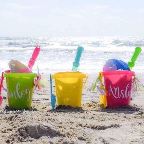 beach bucket and park pail kids activity idea