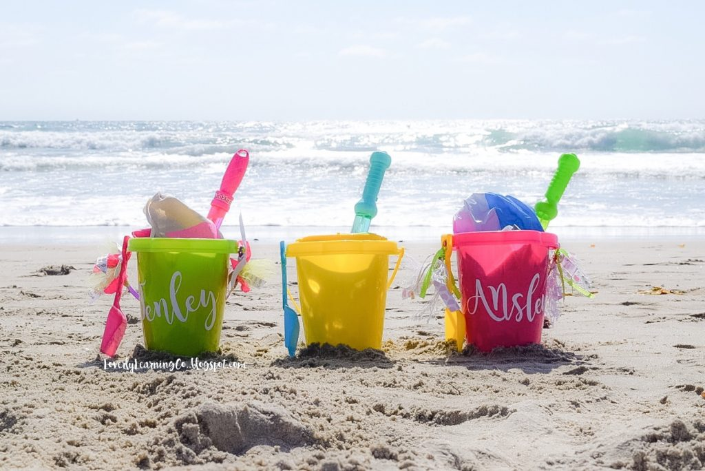 beach bucket and park pail kids activity idea