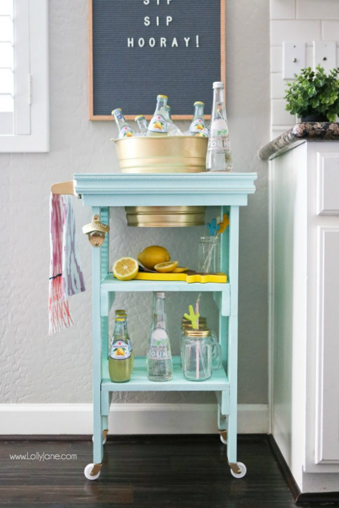 DIY Beverage Station, perfect for summer entertaining or indoor gatherings!