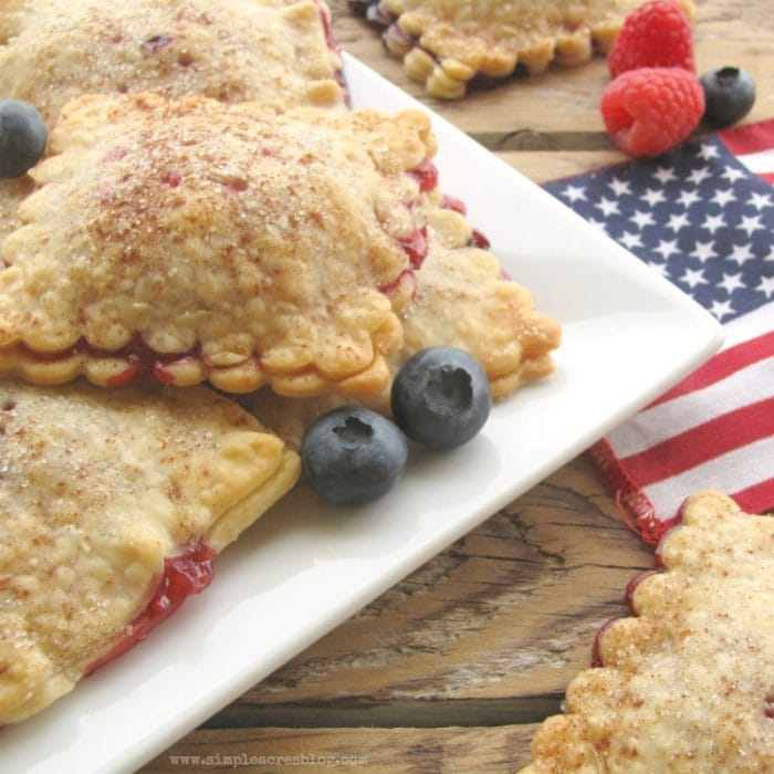Berry hand pie recipe, yum! You'll love this homemade berry cherry hand pie dessert. Great 4th of July dessert idea, perfect patriotic treat!