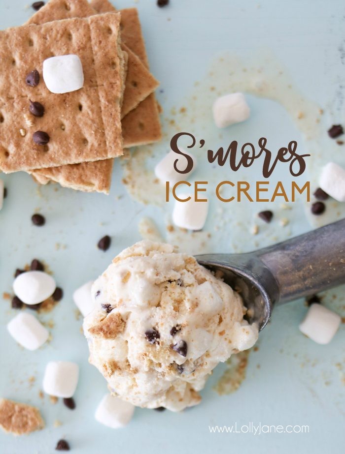 Easy S'more Ice Cream recipe... perfect summer treat without the campfire!