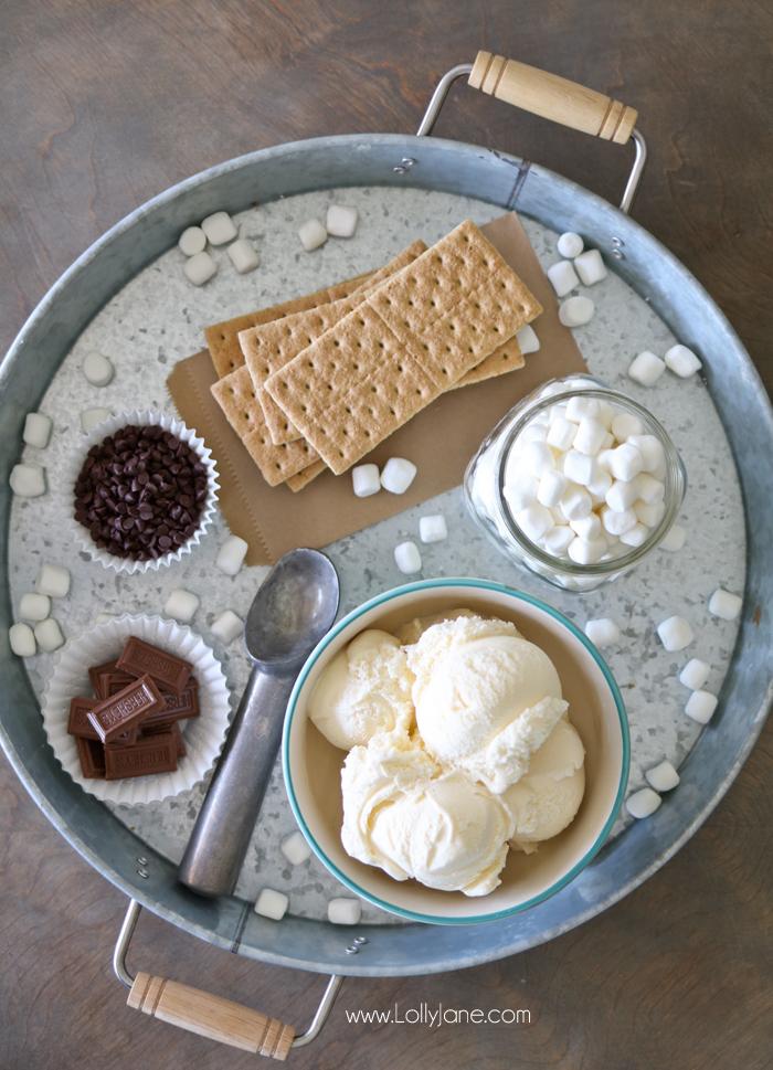 Easy S'mores Ice Cream Sandwiches