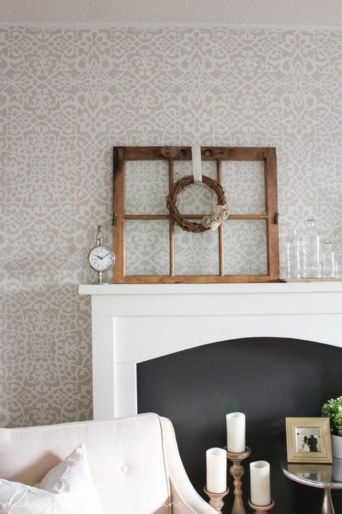 DIY Faux Fireplace  via MakingItInTheMountains.com