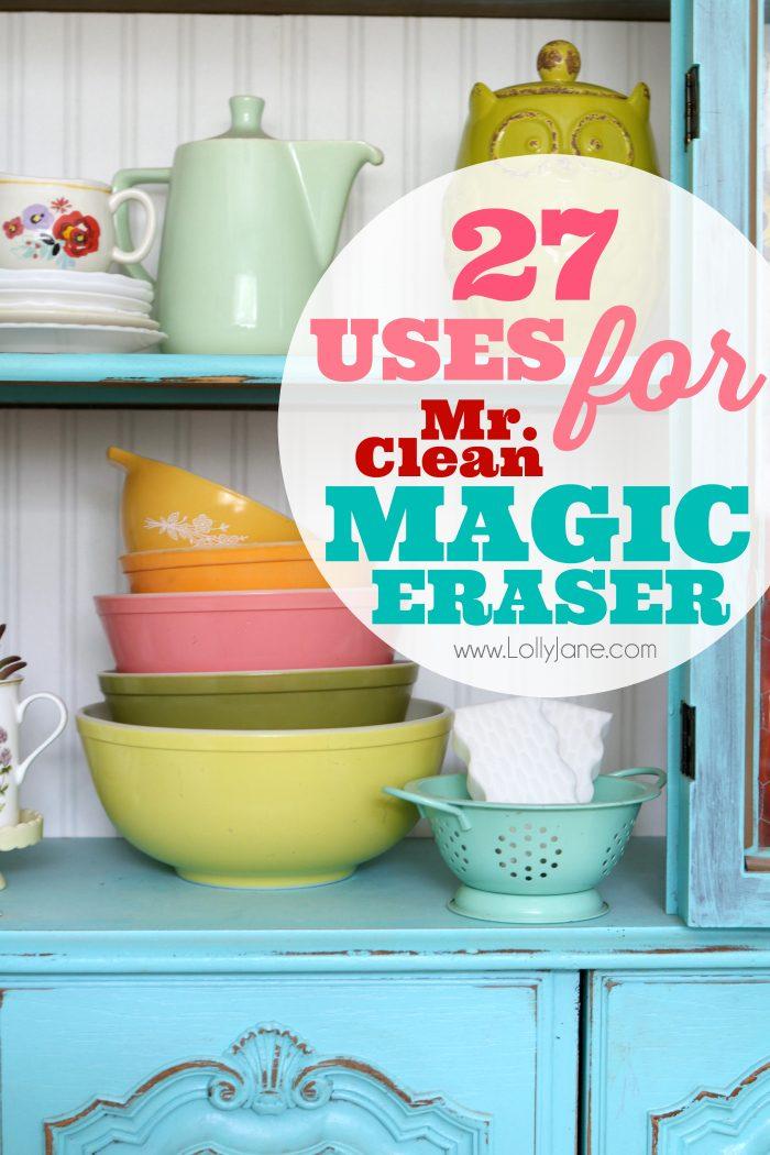 27 uses for mr clean magic eraser lolly jane. Black Bedroom Furniture Sets. Home Design Ideas