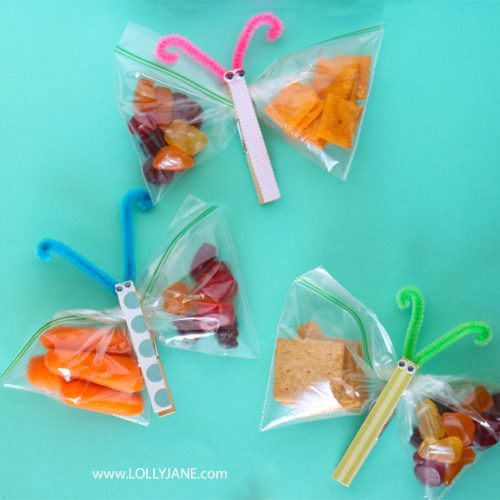 butterfly snack bags make lunches fun