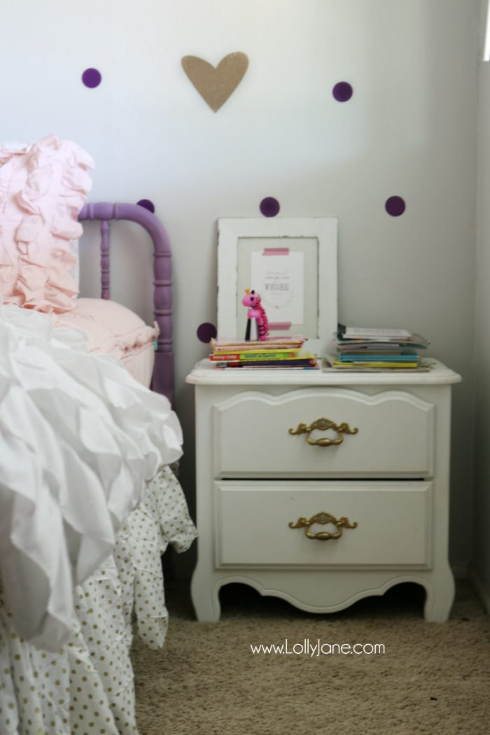 Little Girl Purple Gold Bedroom Makeover Lolly Jane - Little girls room decor