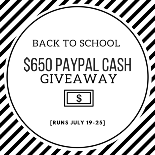 Back to School Paypal Cash Giveaway!