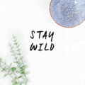 Stay Wild free printable! Love this easy home decor idea! Cute free print! Great digital art home decor idea!