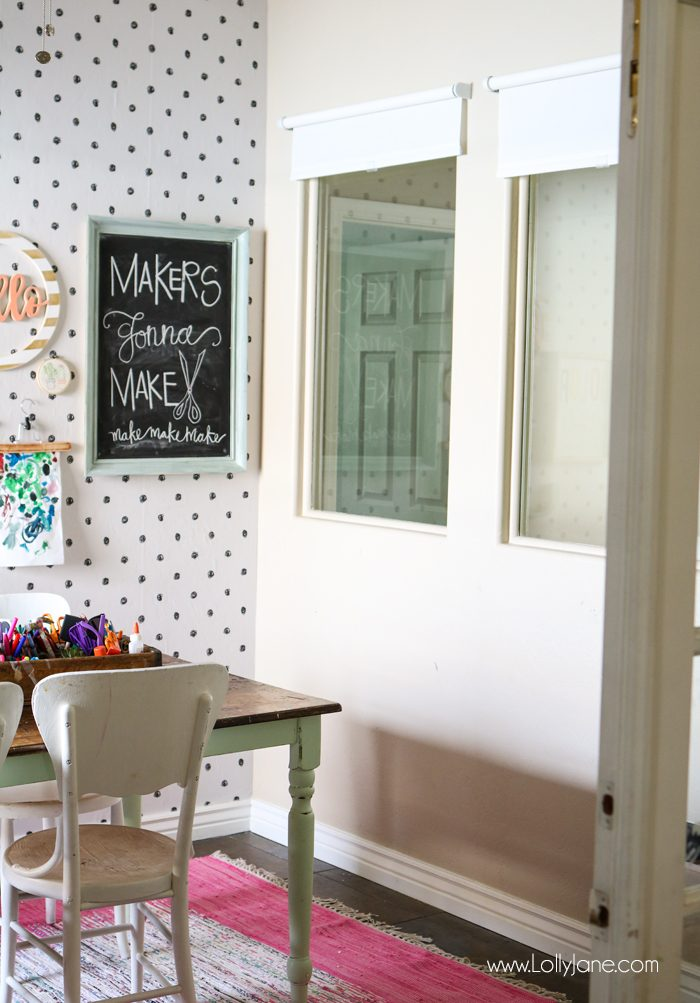 Craft Room Refresh. Love the pretty hue!