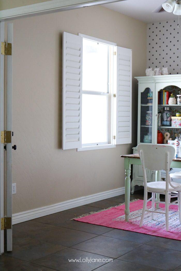 Craft Room Refresh. Love the pretty hue!