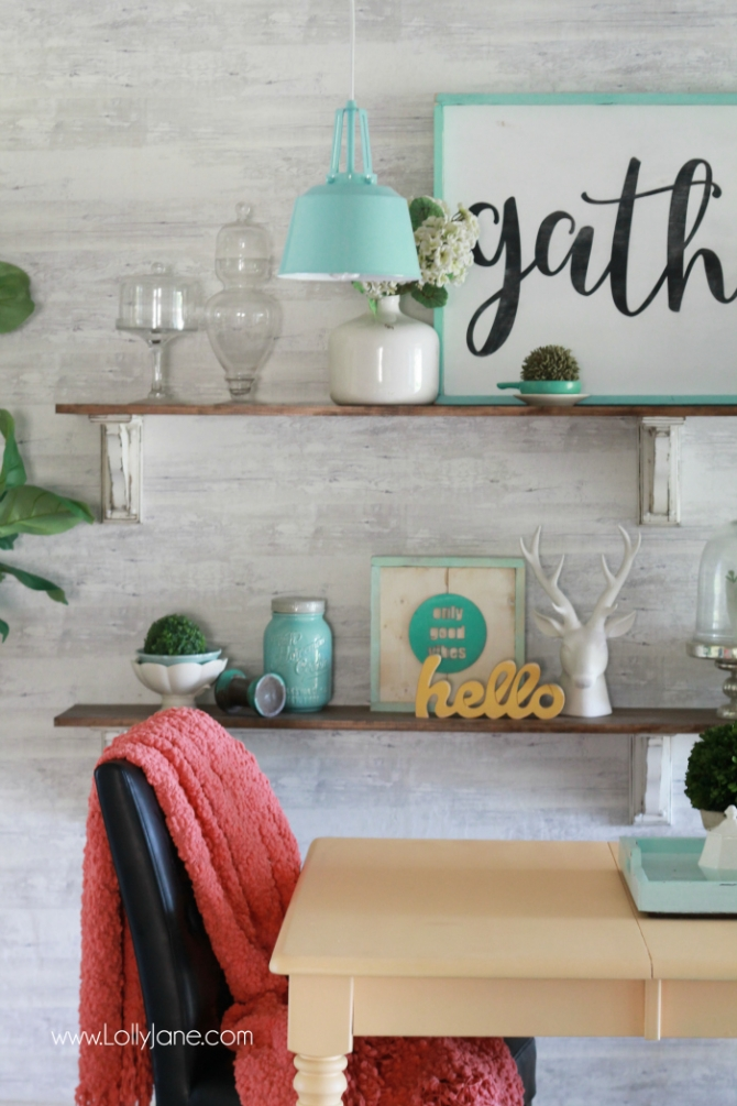 Peach Farmhouse Table Makeover