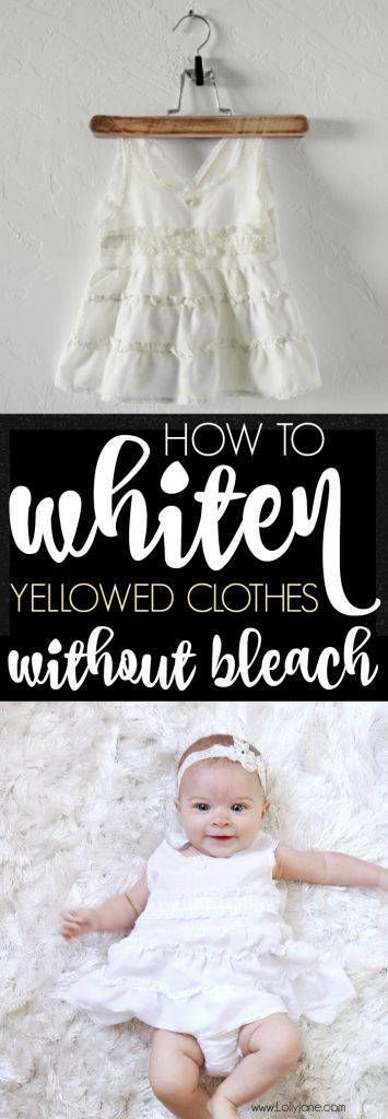 How to Whiten Aged Yellowed Clothing... SO EASY!