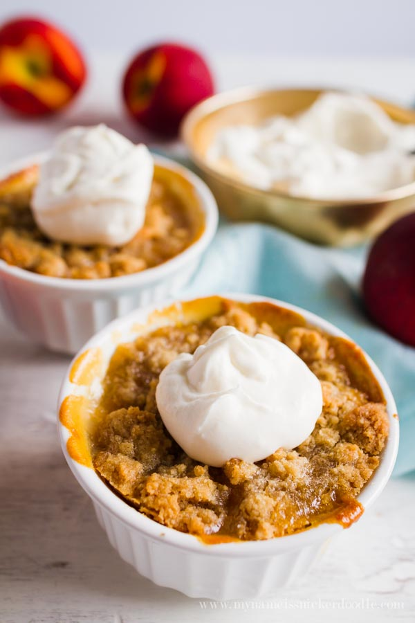 Peach Crisps recipe. SO GOOD! You'll love this family favorite peach ...