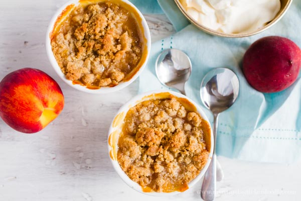This mini peach crisps recipe rocks!