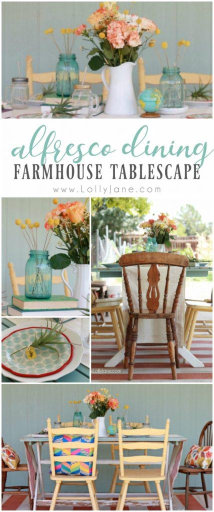 Alfresco Dining Farmhouse Tablescape