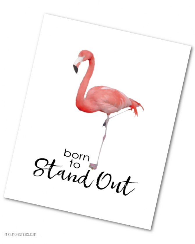 Born To Stand Out Flamingo Print Party Ideas 187 Lolly Jane