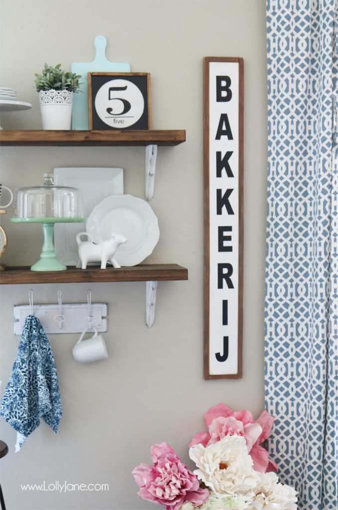 farmhouse chic dining room shelves - Lolly Jane