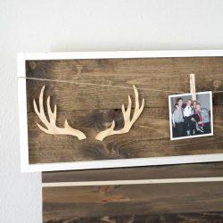 DIY Wooden Antler Frame
