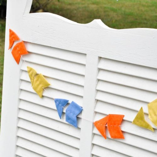 sewing easy felt garlands