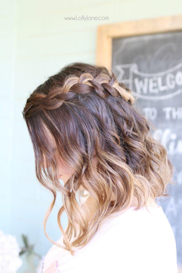Step by step to create this dutch braid crown with Nume wand waves tutorial. Love this easy braid hair tutorial.