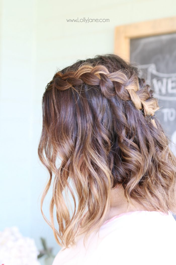 dutch crown braid with nume wand waves   lolly jane