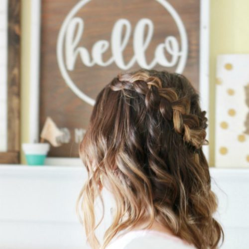 dutch crown braid with nume wand waves