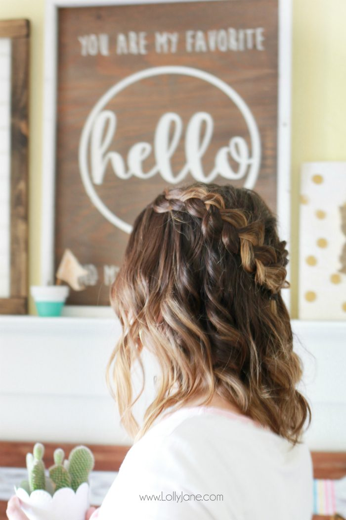 Step by step to create this dutch braid crown with Nume wand waves tutorial. Love this easy braid hair tutorial.