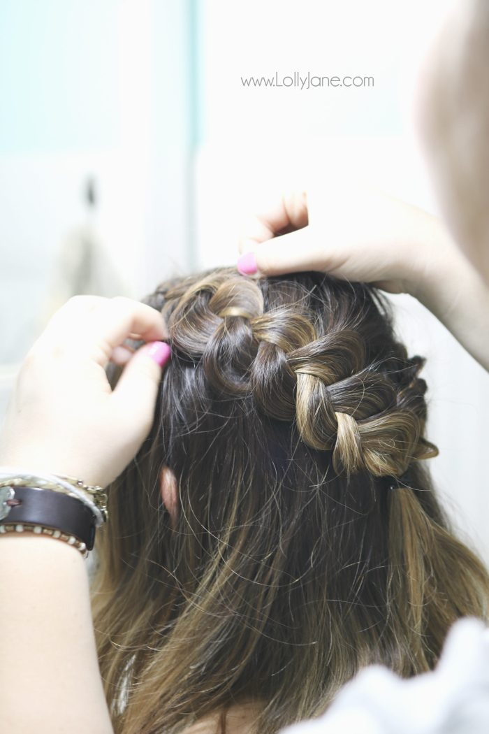 Step by step to create this dutch braid crown tutorial. Love this easy braid hair tutorial.