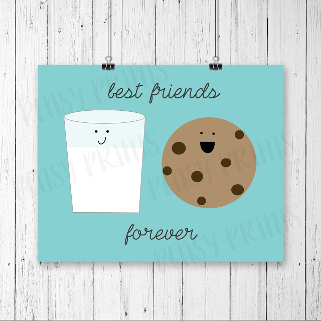 Cutest! Milk + Cookies = Best Friends Forever! :) Love this print!!