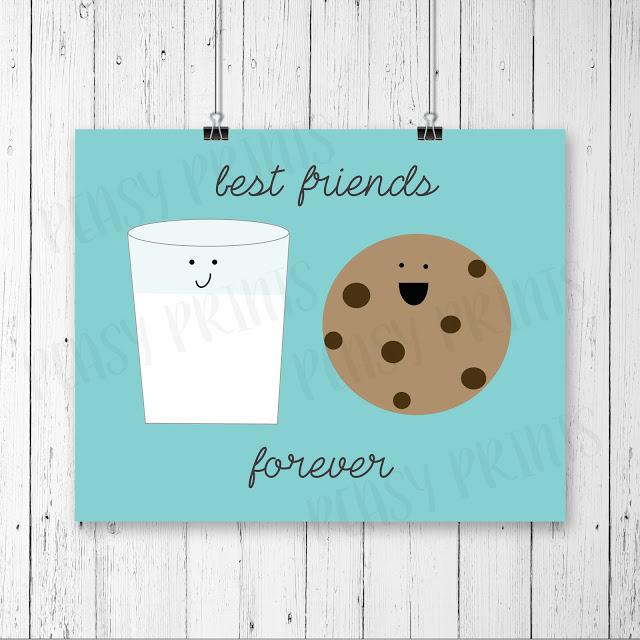 Cutest! Milk + Cookies = Best Friends Forever! :) Love this print!!