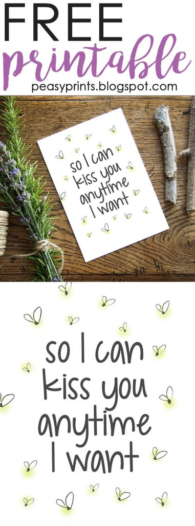 """Sweet Home Alabama, best movie ever! Snag a FREE printable """"So I can kiss you anytime I want"""" on LollyJane.com!"""