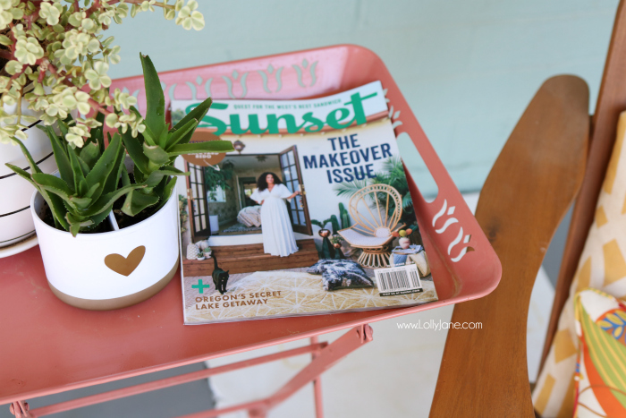 Sunset Magazine home decor inspiration. Don't forget to take some me time for yourself!