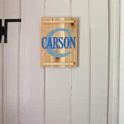 DIY Cedar Name Plaque