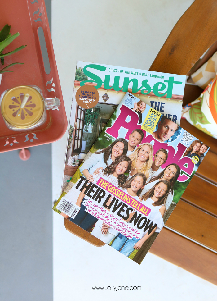 PEOPLE + Sunset Magazine home decor inspiration. Don't forget to take some me time for yourself!