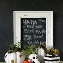 diy halloween succulent planters