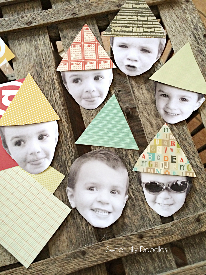 Easy DIY party head bunting. Such a fun and personal way to celebrate your birthday. Easy kids party decor!